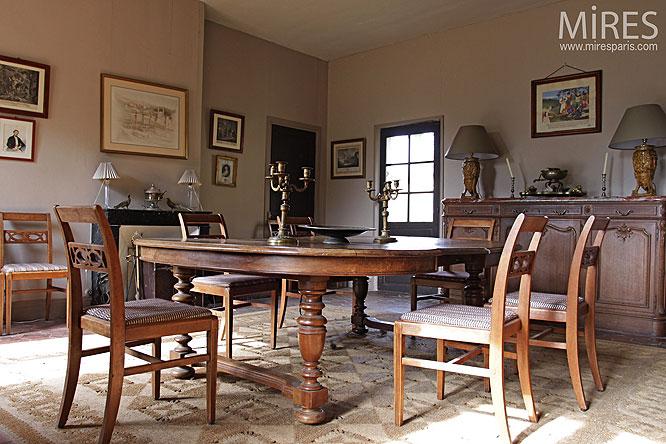 d coration salle manger campagnarde. Black Bedroom Furniture Sets. Home Design Ideas