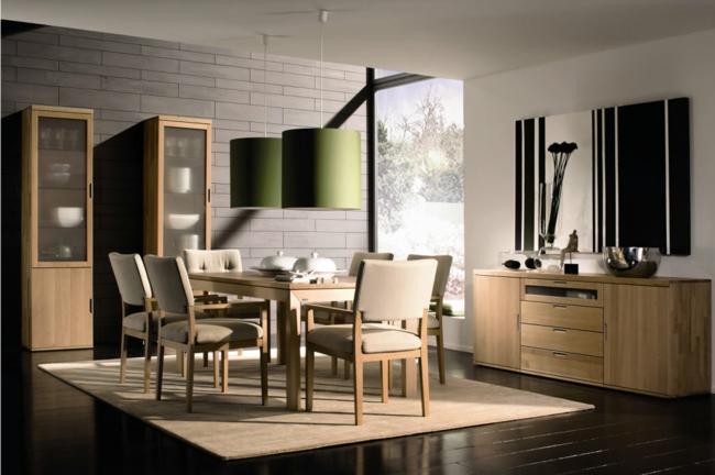 d coration salle manger moderne. Black Bedroom Furniture Sets. Home Design Ideas