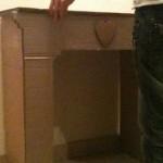 cheminée déco en carton