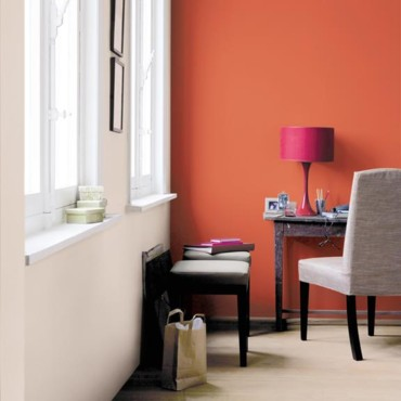 D co bureau orange for Decoration maison orange