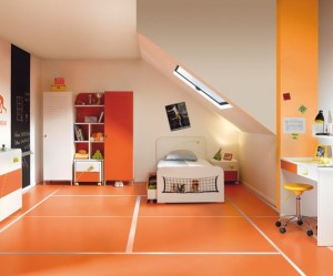 déco bureau orange