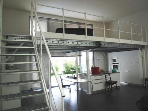 D co mezzanine maison for Modele maison loft