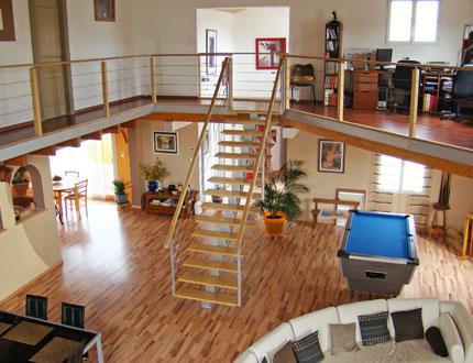 Interieur maison mezzanine for Deco mezzanine