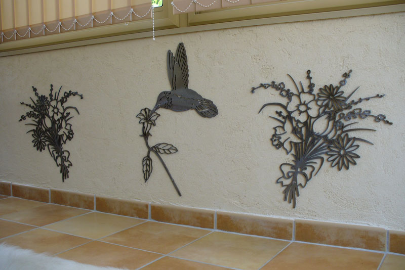 decoration murale fer forge exterieur
