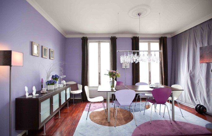 d co salle manger mauve. Black Bedroom Furniture Sets. Home Design Ideas