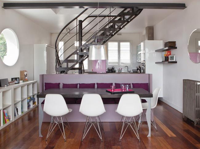 d co salle manger mauve. Black Bedroom Furniture Sets. Home Design Ideas