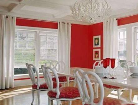 D co salle manger rouge for Salle a manger rouge
