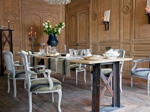 Salle manger rustique en chne massif - Meubles Richard