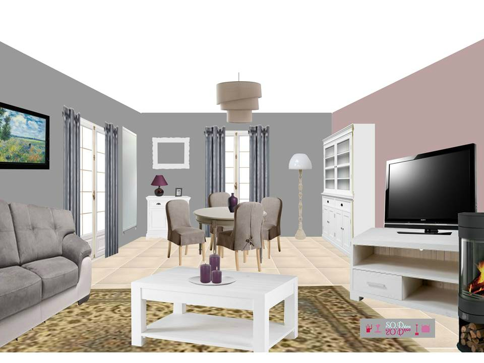 amenagement salon salle manger 30m2 affordable with. Black Bedroom Furniture Sets. Home Design Ideas