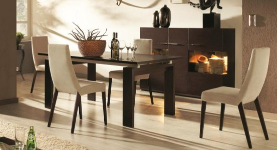 D co salle manger wenge for Meuble design table salle a manger
