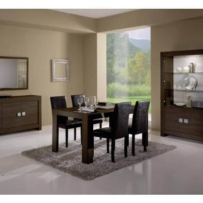 table salle a manger wenge. Black Bedroom Furniture Sets. Home Design Ideas