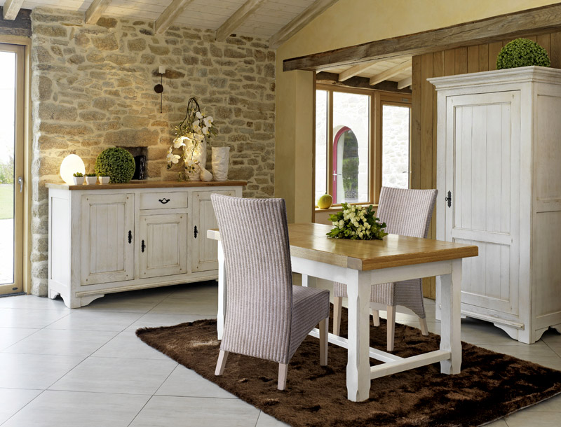 Jolie maison decoration for Salle a manger rustique chic