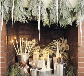décoration cheminée noel