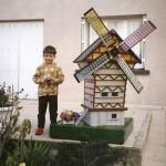 décoration jardin moulin à vent