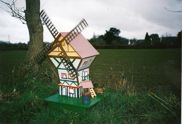 d coration jardin moulin vent