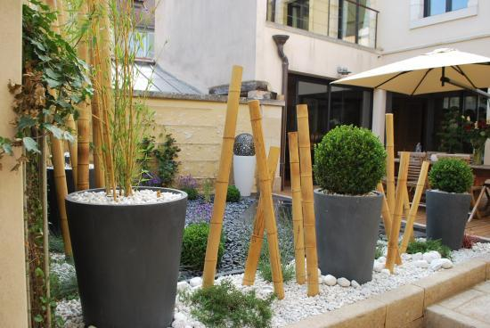 Idee decoration terrasse et jardin amenager terrasse en for Decoration jardin terrasse