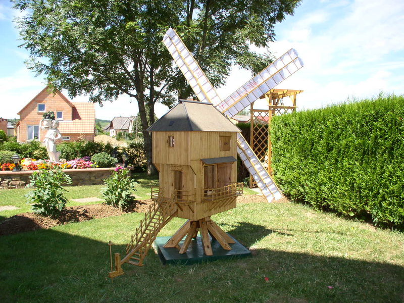 D co moulin a vent jardin - Moulin a vent deco exterieur ...