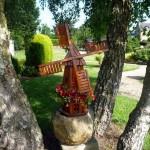 déco moulin a vent jardin