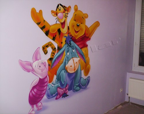 déco murale winnie l'ourson