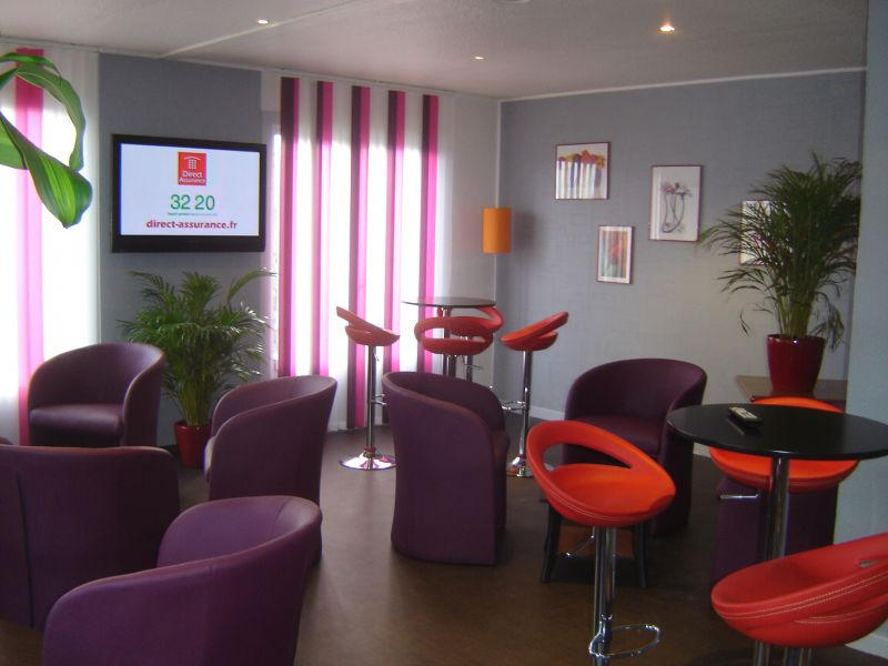 D co rideaux int rieure salon for Photo deco salon