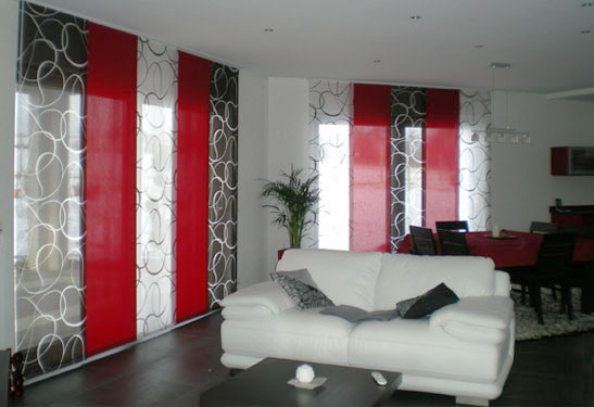 D co salon rideau rouge - Idee deco rideau salon ...
