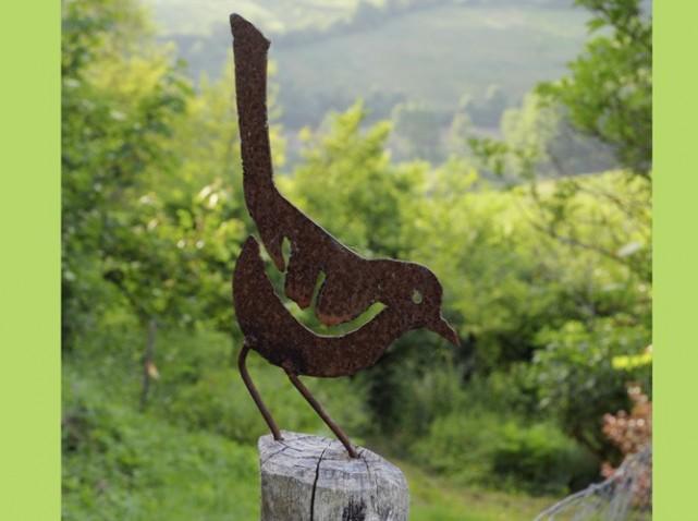 D coration jardin oiseau metal for Deco jardin tournai 2015