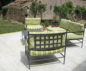 décoration jardin vert anis