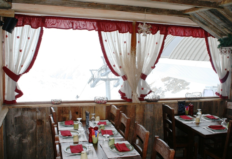 décoration rideau montagne