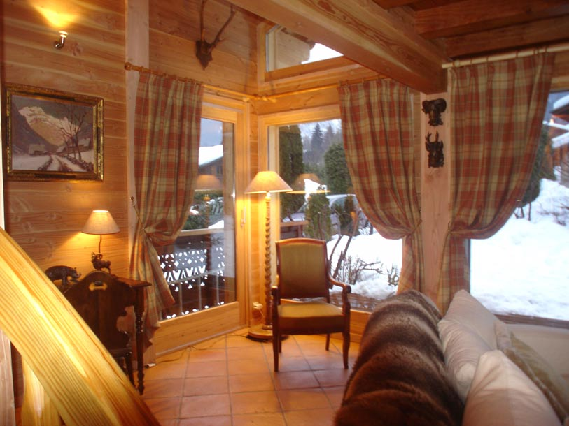 D coration rideaux chalet montagne for Photo decoration