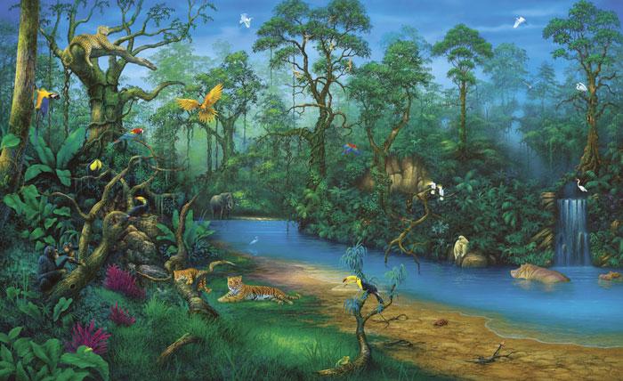 déco murale jungle