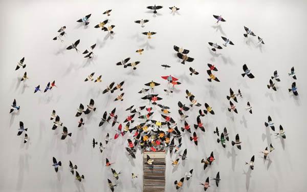 déco murale papillon