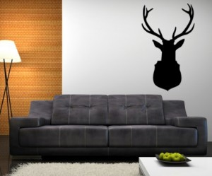 d co murale tete de cerf. Black Bedroom Furniture Sets. Home Design Ideas
