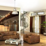 décoration rideaux industrielle