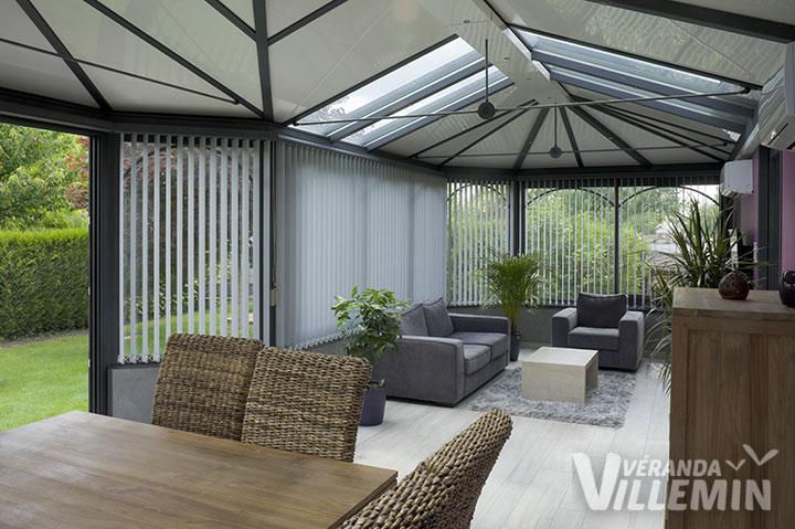 d coration veranda rideau. Black Bedroom Furniture Sets. Home Design Ideas