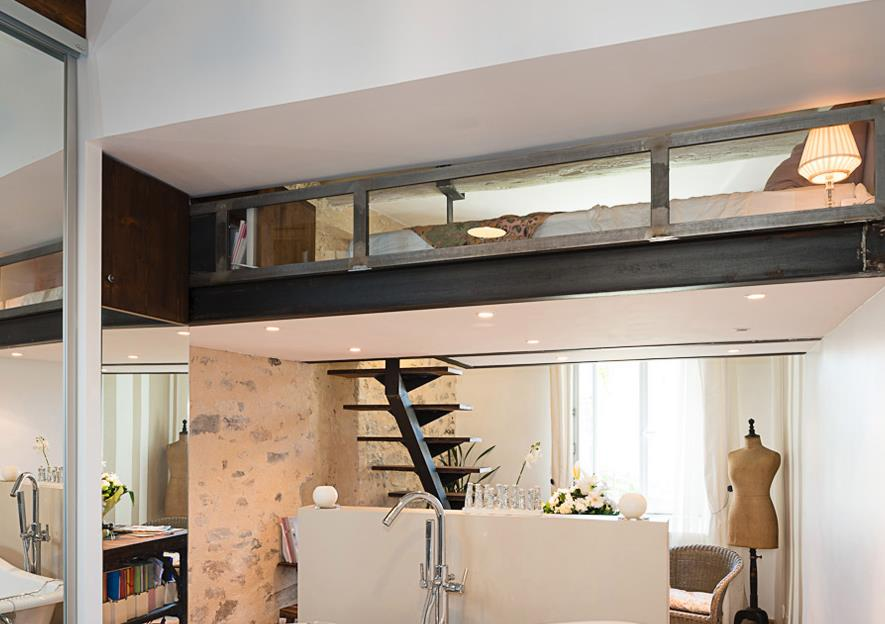 lit mezzanine sous pente best indogatecom mezzanine chambre sous pente with lit mezzanine sous. Black Bedroom Furniture Sets. Home Design Ideas