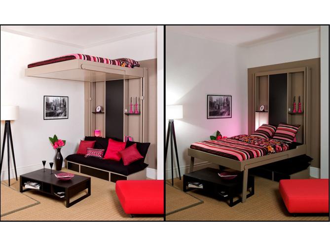 d co chambre en mezzanine. Black Bedroom Furniture Sets. Home Design Ideas