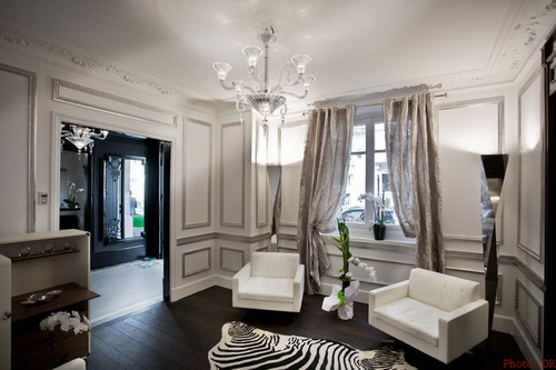 d coration rideaux salon design. Black Bedroom Furniture Sets. Home Design Ideas
