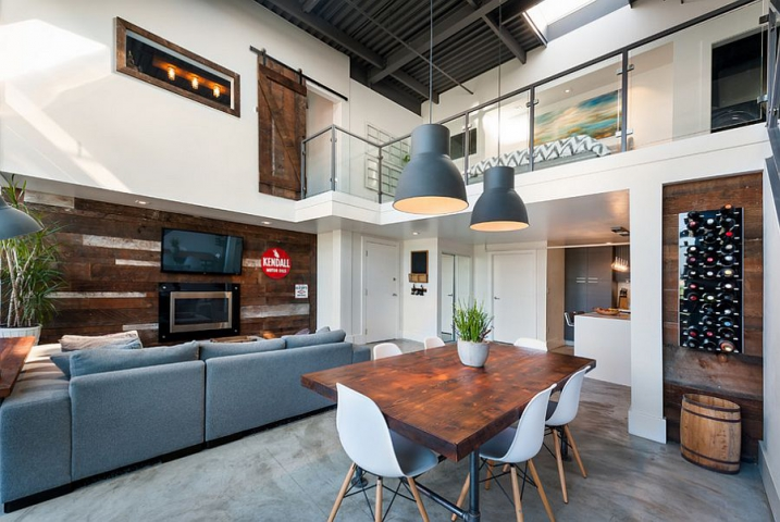 idée décoration salon mezzanine