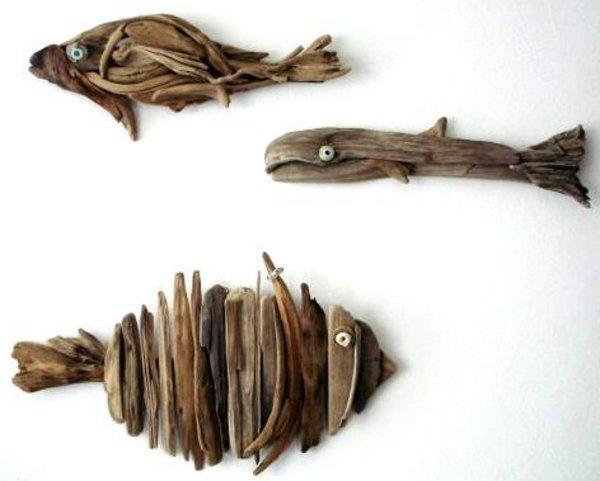 Organisation déco murale bois flotté