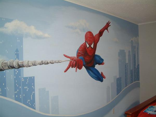D co murale spiderman - Decoration spiderman pour anniversaire ...