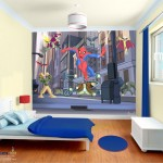déco murale spiderman