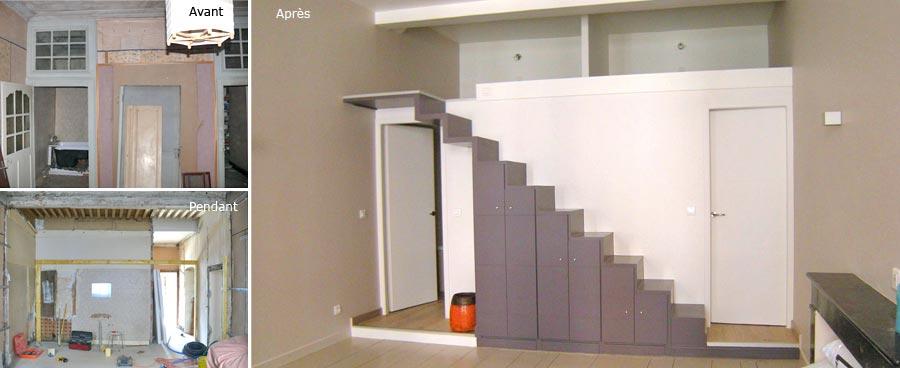 D coration escalier mezzanine - Escalier mezzanine rangement ...