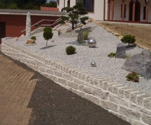 décoration jardin avec gravier