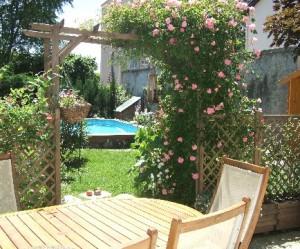 décoration jardin champetre