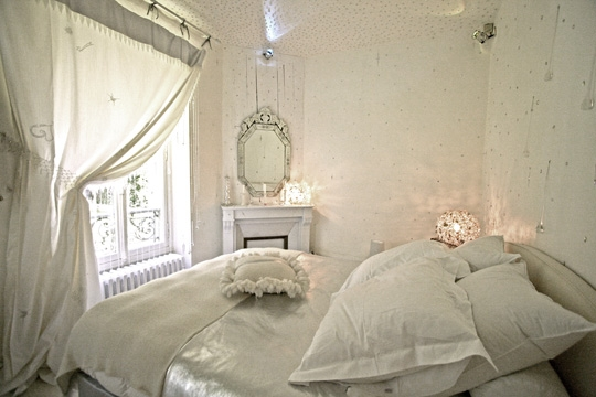 d coration rideaux romantique. Black Bedroom Furniture Sets. Home Design Ideas