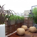 déco balcon bois