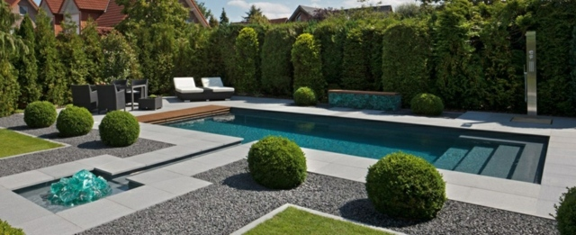 D co jardin avec piscine for Deco design jardin