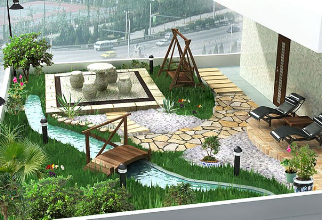 D co jardin design for Jardin exterieur design