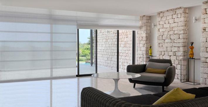 D co rideaux baie vitr e - Rideau pour grande baie vitree ...