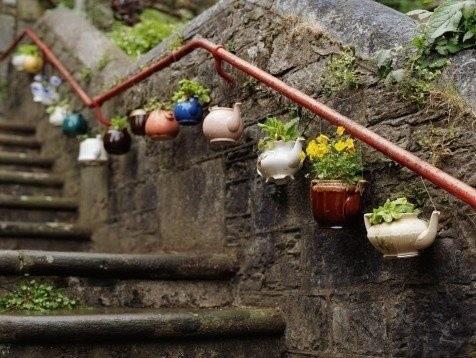 déco jardin avec récupération - Photo Déco